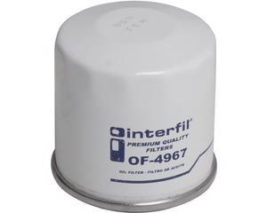 Filtro aceite INTERFIL - Toyota Paseo 4 cil - 1.5L 1992-1999 - Altura 67 Milimetros, Diametro externo 65 Milimetros, Tipo de Filtro Sellado