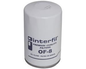 Filtro aceite INTERFIL - Ford F series pick-up 6 cil - 3.8L 1982-1983 - Altura 124 Milimetros, Diametro externo 76 Milimetros, Tipo de Filtro Sellado