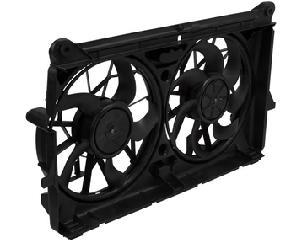 Motoventilador radiador y aire acondicionado CARFAN - Cadillac Escalade 8 cil - 6.2L 2007-2010 - Cant aspas ventilador 1 7 Aspas, Cant aspas ventilador 2 5 Aspas, Terminales conector 1 2 Puntas, Terminales conector 2 2 Puntas, Voltaje 12 Voltios