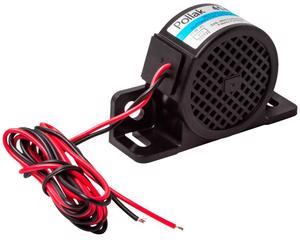 Alarma reversa POLLAK - Altura 2.5 Pulgadas, Ancho 1.5 Pulgadas, Diametro 2 Pulgadas, Longitud 4 Pulgadas, Potencia 97 Decibeles, Voltaje 12V - 24 Voltios