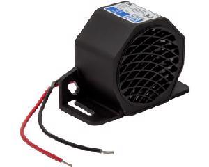Alarma reversa ECCO - Altura 2.8 Pulgadas, Ancho 1.6 Pulgadas, Longitud 4 Pulgadas, Potencia 107 Decibeles, Voltaje 12V - 24 Voltios