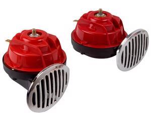 Bocina electrica IMPORTADO - Juego 2 Piezas, Voltaje 12 Voltios