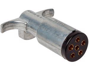 Conector remolque POLLAK - Juego 1 Piezas, Terminales 6 Soquet, Conexion Macho