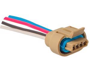 Conector bobina y modulo de encendido NACIONAL - Terminales 4 Soquet