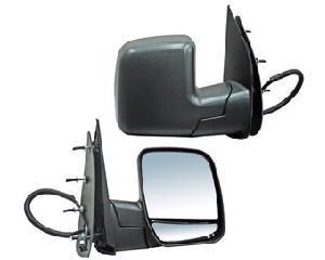 Espejo Polyway - FORD E150 2002-2007 - Diseño Doble luna, Funcionamiento Eléctrico, Lado Derecho (Copiloto), Posición Lateral