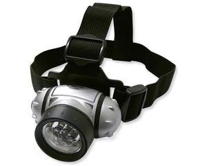 136027 Linterna para cabeza 7 LED para pilas 3AAA Surtek -Elástico ajustable.-Soporte frontal acojinado.-Inclinación ajustable.-Longitud: 7.5 cm.-4 funciones de prendido: 1, 3 y 7 led prendidos o todos intermitentes.