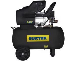 Surtek -  Compresor optimo para trabajos en casa, pequeños talleres y aplicaciones en general/Eficiente motor de interacción con trasmisión directa/Equipos con manija para mejor manejo/Ruedas que facilitan su trasporte