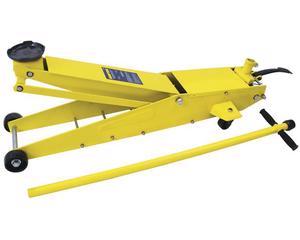 137092 Gato de patín profesional 5ton Surtek. -Brazos extra largos-Pedal de levante rápido-Con bomba de aproximación y carga-Cuerpo robusto hecho de acero reforzado para servicio pesado- altura mínima 15 cm, altura máxima 57 cm