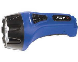 144097 Linterna recargable de plástico 7 LED Foy. -Linterna recargable de plástico 7 LED Foy-Contienen clavija para recarga-15 horas de uso continuo-Luz indicadora de carga completa