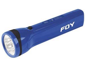 144096 Linterna recargable de plástico 4 LED Foy. -Linterna recargable de plástico 4 LED Foy-Contienen clavija para recarga-15 horas de uso continuo-Luz indicadora de carga completa