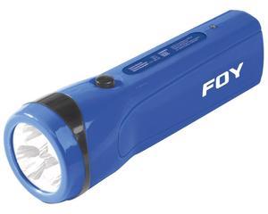 144095 Linterna recargable de plástico 3 LED Foy. -Linterna recargable de plástico 3 LED Foy-Contienen clavija para recarga-15 horas de uso continuo-Luz indicadora de carga completa