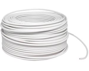 Cable eléctrico Cal. 10 UL 100m blanco
