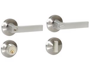 Lock -  Cabeza picaporte de zinc cromado con alma de acero templado/Función sencillo/Llave estándar/Misma combinación de llave/Para puertas abatibles de metal o madera con espesores de 35mm a 45mm