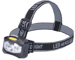 135907 Linterna para cabeza a baterías 160 lm Surtek. -160 lm, 3W. pantalla de PS, cuerpo de ABS, 3 LED de alta potencia.-4 baterías AAA incluidas, 3 modos de luz, distancia de luz 10 m.-Color temperatura 6500K, resistencia a caídas 1m, 10,000 horas de vida. -Linterna para cabeza a baterías (3 AAA) 160lm.