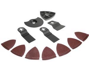 KMH600 Kit 19 accesorios para MH600 Surtek. -1 raspador, 2 hojas de sierra 65 Mn, 1 sierra de media luna, 1 almohadilla de lijado, 14 de repuestos de lijas-Marca Surtek