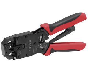 302 Pinza ponchadora modular para cable UTP/STP, 8in Urrea. -Para cable redondo y plano-Tornillo removible para conectores tipo DEC-Matrices de ponchado con rectificado de precisión que garantizan crimpados perfectos-Su sistema de matraca permite generar una presión uniforme en todos los contacto del conector-Para cable redondo y plano. Longitud de pelado 1/4in y 1/2in