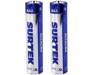 Surtek -  1,5 V/130 minutos de uso continuo (depende del tipo de uso), cubierta de aluminio/2 pilas, 650 mAh/Pilas alcalinas de uso general