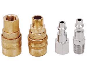 108123 Juego de coples y conectores 4 piezas Surtek. -Juego de coples y conectores 4 piezas Surtek-Diseño industrial-Ideal para todo tipo de herramientas a base de aire-Marca Surtek