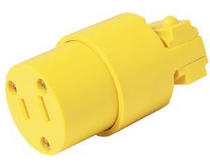 Contacto blindado con abrazadera plástica polarizado 15A 127V