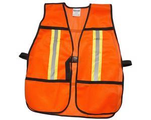 Chaleco de seguridad malla naranja correas ajustables cintas prismáticas