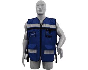 Chaleco de seguridad para supervisor azul marino