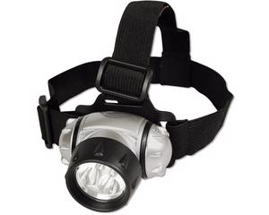 136032 Linterna para cabeza 3 LED para 3 pilas AAA Surtek -Elástico ajustable.-Soporte frontal acojinado.-Inclinación ajustable.-Longitud: 7.5 cm.