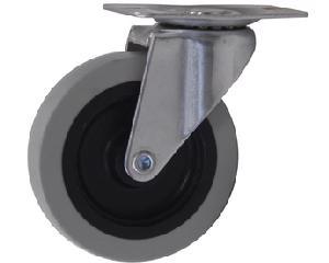 R137073 Llanta refacción cama plástica para mecánico 137073 Surtek. -Llanta refacción que gira 360° para mayor movilidad