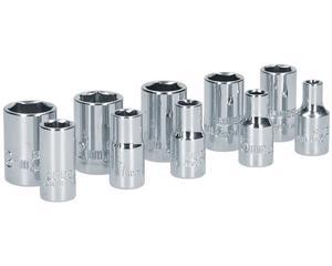 """Surtek -  1 dado 1/4"""" 6 puntas 10mm/1 dado 1/4"""" 6 puntas 11mm/1 dado 1/4"""" 6 puntas 12mm/1 dado 1/4"""" 6 puntas 13mm/1 dado 1/4"""" 6 puntas 4mm/1 dado 1/4"""" 6 puntas 5mm/1 dado 1/4"""" 6 puntas 7mm/1 dado 1/4"""" 6 puntas 8mm/1 dado 1/4"""" 6 puntas 9mm/Ideal para apretar y aflojar tornillos boca 1/2"""", Contenido 1 dado 1/4"""" 6 puntas 6mm, SAE o Métrico SAE, Terminado Cromado"""