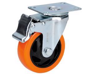 Surtek -  20° C   a   70° C/Doble balero incluido/Para vehículos de manejo de carga, carros móviles o mobiliario con mucho peso/Soporte tipo placa, Material de la rueda PVC, Material del rin hierro, Temperatura de operación , Velocidad máxima de operación 3 Km/h