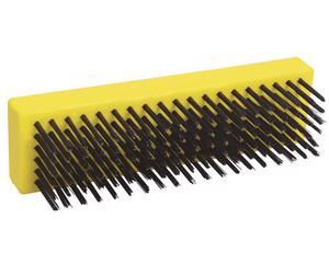 123262 Cepillo alambre 6in x 19in sin mango Surtek. -Alambre de acero al alto carbón, mango en forma de bloque, útil para aplicar mayor presión y limpiar adherencias difíciles de quitar