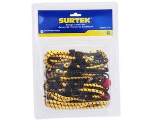 151260 Juego de 12 tensores elásticos Surtek. -Juego de 12 tensores elásticos Surtek-Con ganchos de acero-Fabricados en goma con recubrimiento de nylon-Marca Surtek