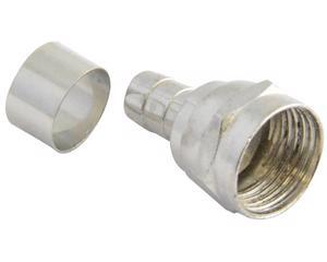 153200 Conector tipo campana para cable coaxial RG59 Surtek. -Bolsa con 4 piezas-Para cable coaxial-Anillo suelto-Tipo f-Para instalaciones de antena, televisión satelital o cable