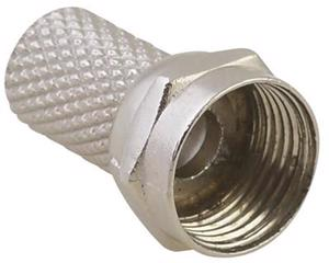 153202 Conector de rosca tipo F para cable coaxial RG59 Surtek. -Bolsa con 4 piezas-Para cable coaxial-Tipo f-Para instalaciones de antena, televisión satelital o cable