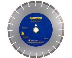 """Surtek -  Centro de 1""""/Diámetro 16"""", Grosor 9/64"""", Tamaño del filo 12 mm, Velocidad máxima 3820 RPM"""
