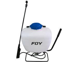 Foy -  Boquilla regulable/Canasta con filtro/Diseño ergonómico con cuerpo encorvado, que se amolda perfectamente a la espalda/Sistema de bombeo lateral tubo rociador de plástico/Tapa boca ancha roscada/Tubo rociador de plástico