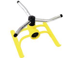130347 Aspersor estacionario giratorio de 3 brazos Surtek. -Aspersor estacionario giratorio de 3 brazos Surtek-3 brazos de aluminio-Con base metálica-Marca Surtek
