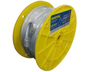 Surtek -  Con guardacabo para mayor seguridad/Fabricado en Acero Galvanizado más rígido y flexible/Levante de carga, arrastre de vehículos y carga, tensión y sujeción de objetos/Protección antióxido