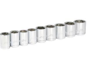 "Foy -  Dados cortos de 10 mm a 19 mm/Foy Juego de 9 dados métricos 3/8"" en riel/Juego de 9 dados métricos 3/8"" en riel Foy/Marca Foy"
