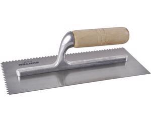 123181 Llana 11x5in 10rem dent triang Surtek. -Soporte de aluminio para disminuir el peso-Fabricadas en acero alto carbono-Lámina con acabado pulido espejo-Medida 11in x 5in
