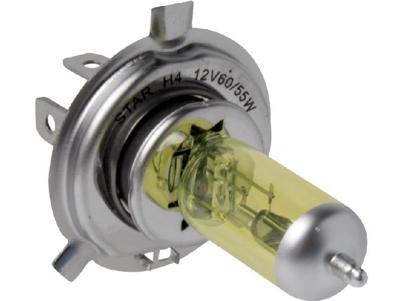 Foco halogeno STAR - Chevrolet Express 6 cil - 4.3L 1998-2014 - Intensidad 60/55 Watts, Juego 1 Piezas, Voltaje 12 Voltios, Soquet H4 / 9003 , Color Amarillo