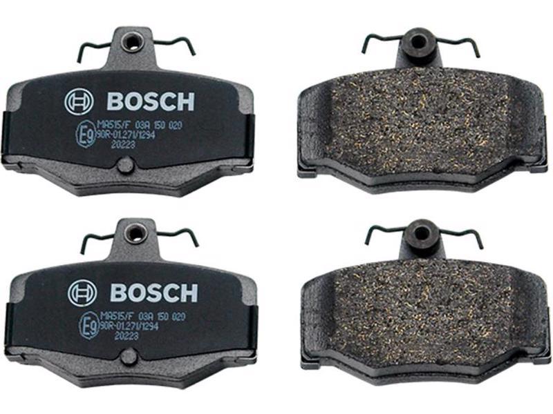 Balata de freno de disco BOSCH - Nissan Almera 4 cil - 1.8L 2001-2005 - Juego 2 Piezas, Lado Delantera