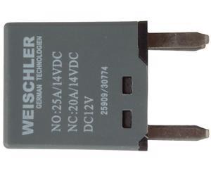 Relevador principal WEISCHLER - GMC Yukon 8 cil - 5.7L 1995-2008 - Amperaje 20-25 Amperes, Terminales 4 Terminales, Voltaje 12 Voltios