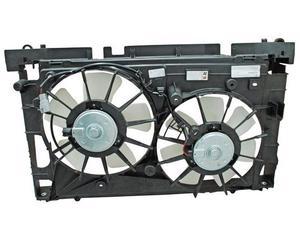 Motoventilador TYC - TOYOTA Prius 2010-2013 - Con tolva Si, superior, Para radiador y aire acondicionado Si, Tipo Completo, doble