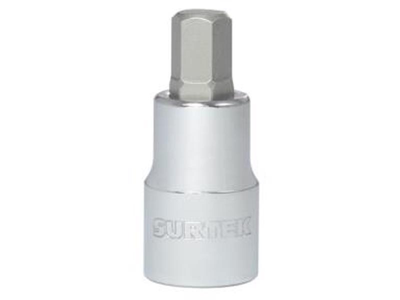 F58H10M Dado 1/2in punta hexagonal 10 mm Surtek. -Cuadro 1/2in. Medida 10 mm-Fabricado en acero cromo vanadio-Ideales para realizar tareas mecánicas, de mantenimiento, armado y desarmado