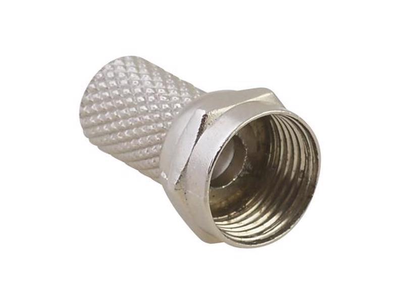 153203 Conector de rosca tipo F para cable coaxial RG6 Surtek. -Bolsa con 4 piezas-Para cable coaxial-Tipo f-Para instalaciones de antena, televisión satelital o cable