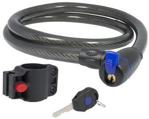 11CN Candado de cable con llave 1.2x120cm Lock. -Candado de cable con llave-Cable de acero con cubierta plástica PVC-4 pines de seguridad-Cilindro sencillo